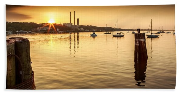 Hand Towel featuring the photograph Port Jefferson by Mihai Andritoiu