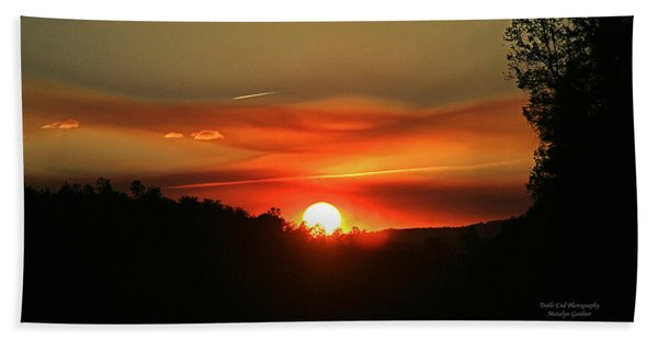 Smokin' Payson Sunset Hand Towel