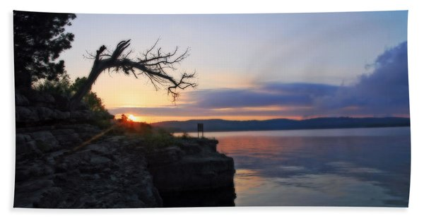Sunrise Over Table Rock Lake Hand Towel