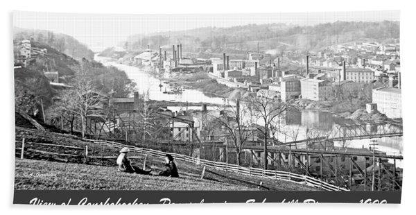 View Of Conshohocken Pennsylvania C 1900 Hand Towel