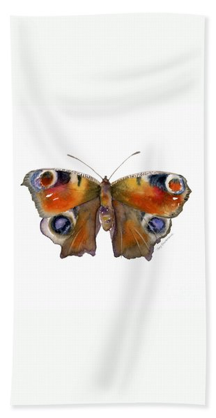 10 Peacock Butterfly Hand Towel
