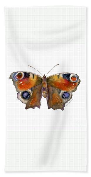 10 Peacock Butterfly Bath Towel