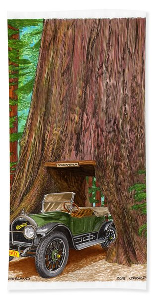 1915 Willys Overland Transits Giant Redwood  Bath Towel