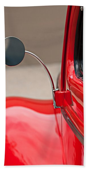 Hand Towel featuring the photograph 1940 Ford Deluxe Coupe Rear View Mirror by Jill Reger
