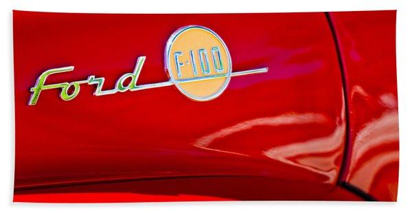 1955 Ford F-100 Pickup Truck Side Emblem -3515c Hand Towel