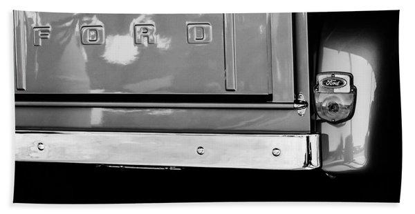 1956 Ford F-100 Truck Taillight Emblem Hand Towel