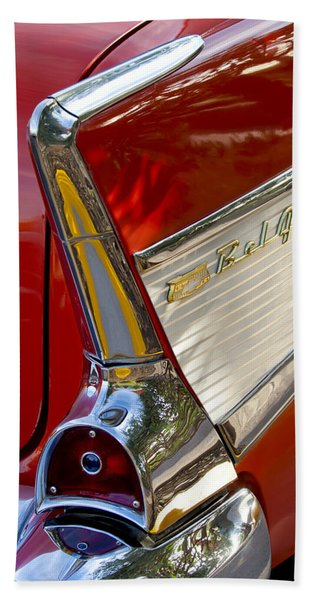 Hand Towel featuring the photograph 1957 Chevrolet Belair Taillight by Jill Reger