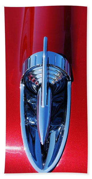 1957 Chevy Belair Hood Rocket Hand Towel