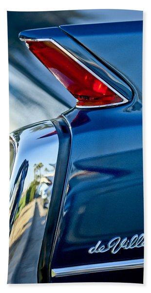 Hand Towel featuring the photograph 1962 Cadillac Deville Taillight by Jill Reger