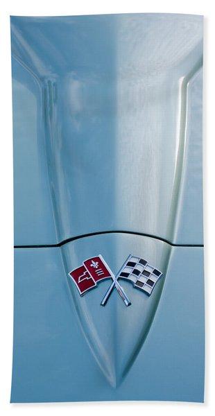 1966 Chevrolet Corvette Coupe Hood Emblem Hand Towel
