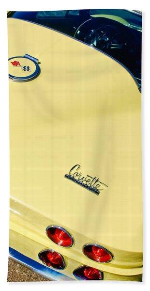 1967 Chevrolet Corvette Rear View Hand Towel