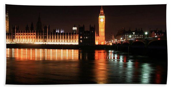 Big Ben And The Houses Of Parliament Bath Towel