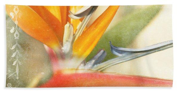 Bird Of Paradise - Strelitzea Reginae - Tropical Flowers Of Hawaii Bath Towel
