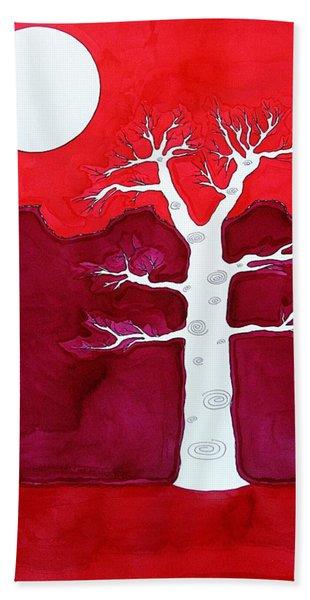 Canyon Tree Original Painting Hand Towel