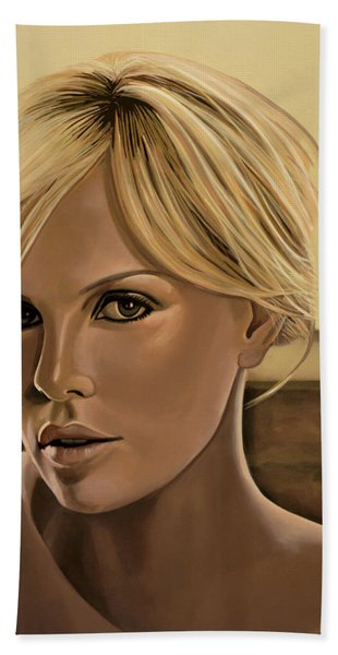 Charlize Theron Painting Bath Towel