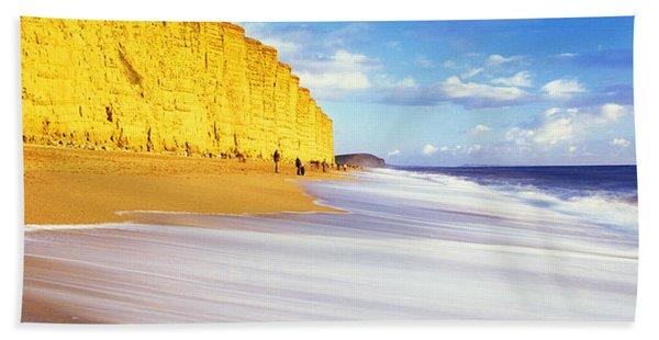 Cliff On The Beach, Burton Bradstock Hand Towel