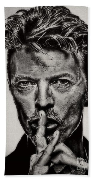 David Bowie - Pencil Abstract Hand Towel
