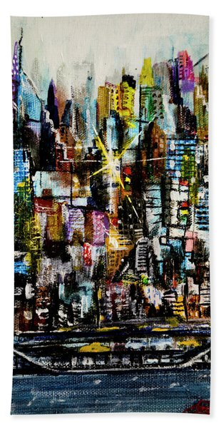 Manhattan Morning Hand Towel