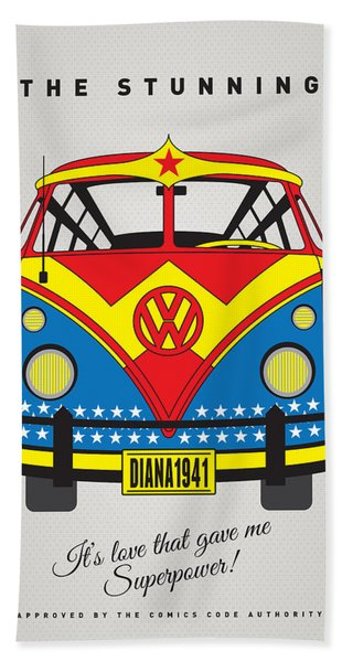 My Superhero-vw-t1-wonder Woman Bath Towel