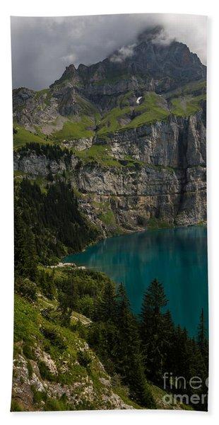 Oeschinensee - Swiss Alps - Switzerland Hand Towel