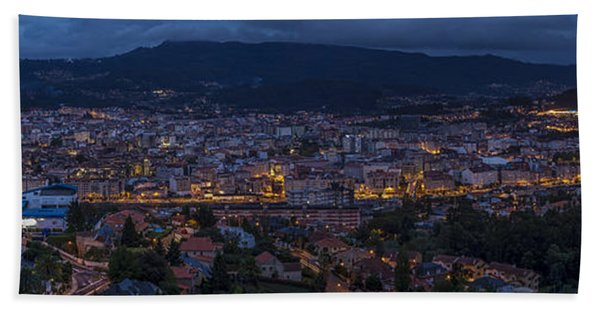 Pontevedra Panorama From A Caeira Bath Towel