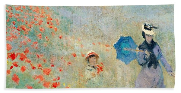 Poppies At Argenteuil Bath Towel