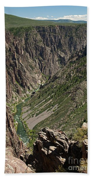 Pulpit Rock Overlook Black Canyon Of The Gunnison Bath Towel