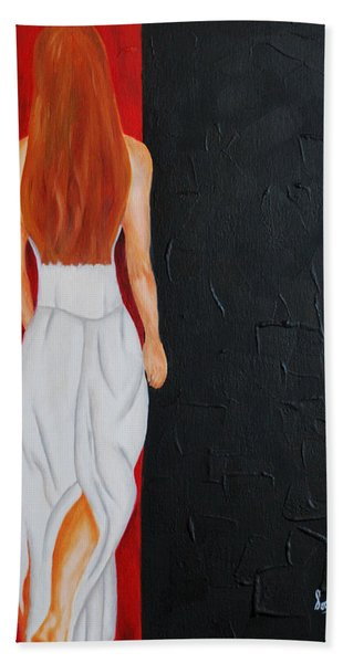 The Mystery Woman Bath Towel