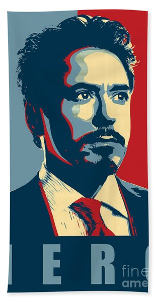 Tony Stark Bath Towel