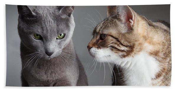 Two Cats Bath Towel