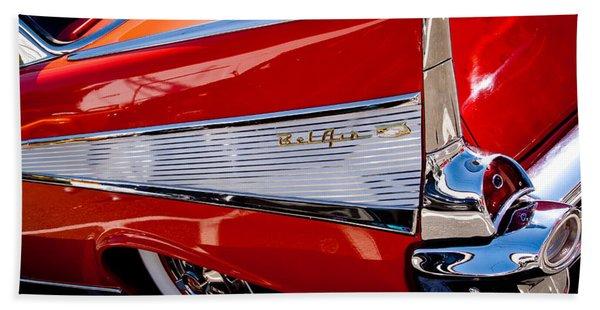 1957 Chevy Bel Air Custom Hot Rod Hand Towel