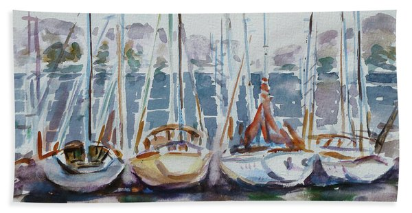 4 Boats Hand Towel