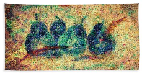 4 Pears Mosaic Hand Towel