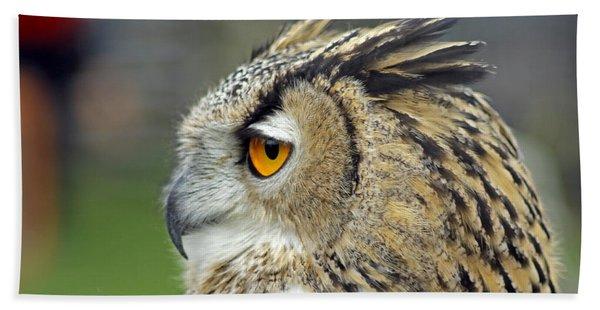 European Eagle Owl Bath Towel