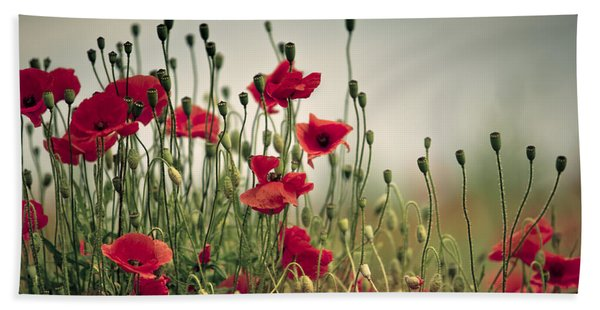 Poppy Meadow Bath Towel