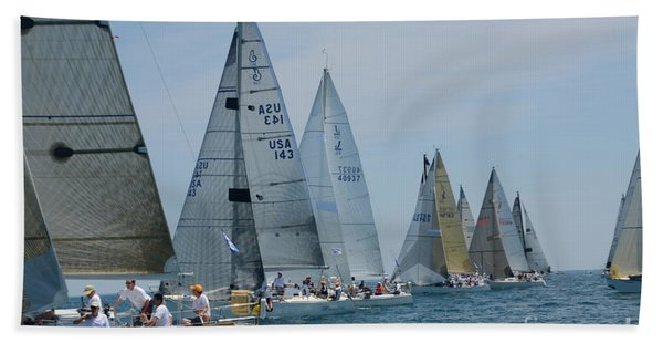 Sailboat Race Bath Towel