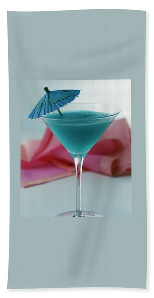 A Blue Hawaiian Cocktail Bath Towel