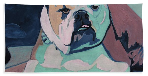 A Bulldog In Love Bath Towel
