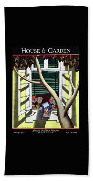 A House And Garden Cover Of A Birdcage Bath Towel