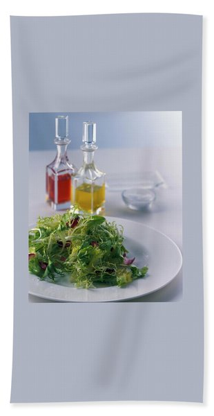 A Salad With Dressings Bath Towel