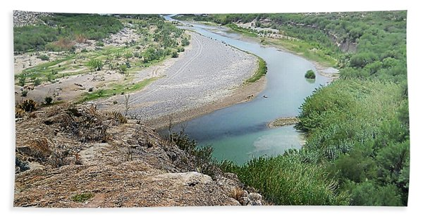 Above The Rio Grande Hand Towel