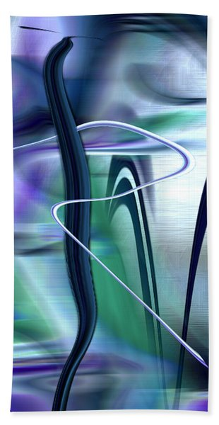 Hand Towel featuring the digital art Abstract 300 by Gerlinde Keating - Galleria GK Keating Associates Inc