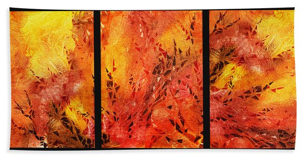 Abstract Fireplace Bath Towel