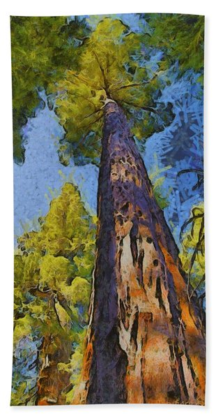Abstract Giant Sequoia Bath Towel