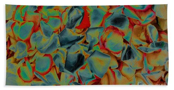 Abstract Rose Petals Bath Towel