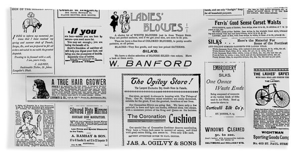 Advert - For The Ladies Hand Towel