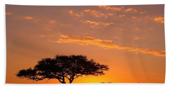 African Sunset Bath Towel