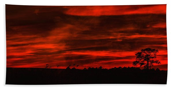 After Sunset Sky Hand Towel