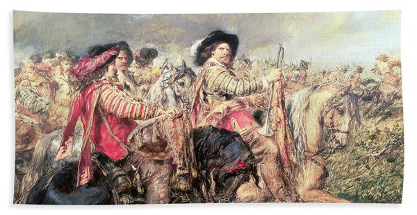 After The Battle Of Naseby In 1645, 1860 Bath Towel