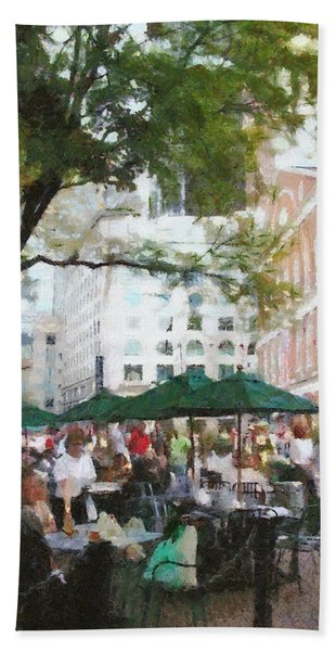 Afternoon At Faneuil Hall Hand Towel